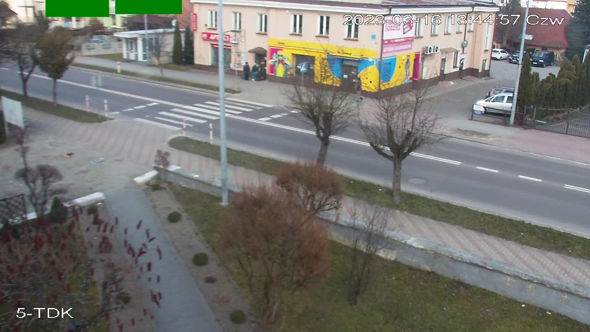 Kamiera na TDK. Widok na lodowisko miejskie lub ulicę Lwowską