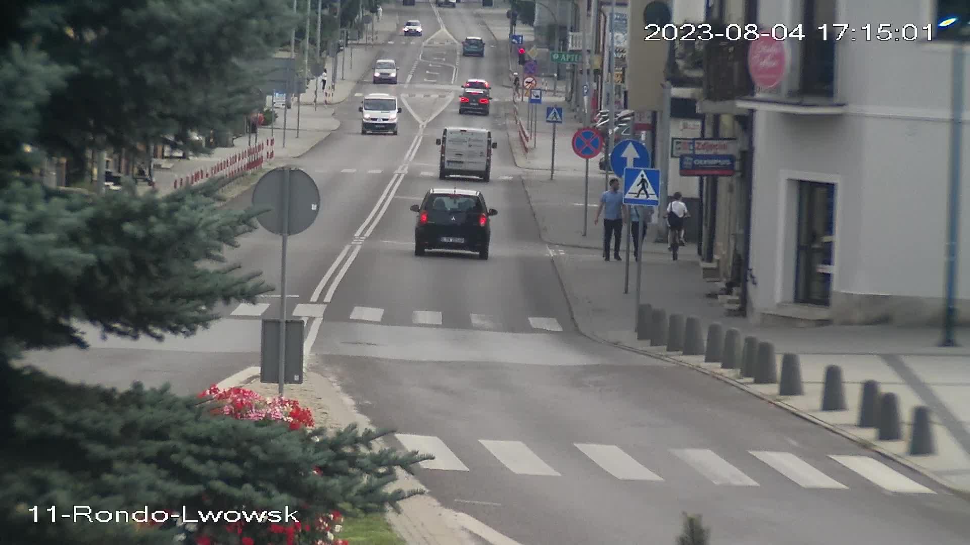 Kamera Rynek w Tomaszowie Lubelskim, widok na ulicę Lwowską